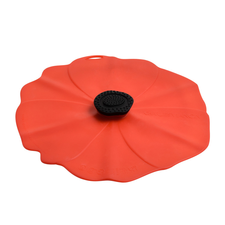 Charles Viancin Poppy Silicone Lid 33cm Red