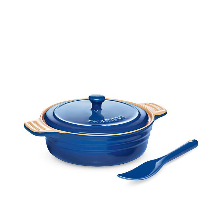 Chasseur La Cuisson Camembert Baker with Cheese Spreader Blue