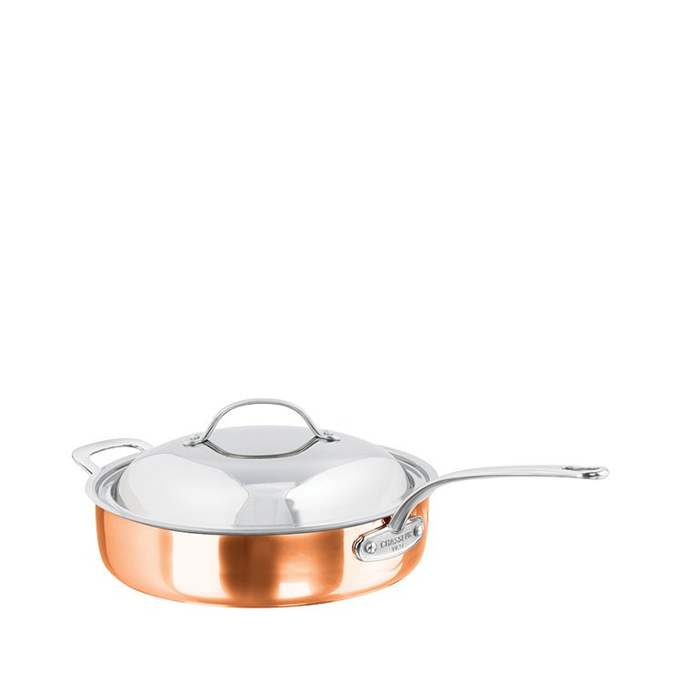 Chasseur Escoffier Saute Pan w/ Lid and Helper Handle 28cm