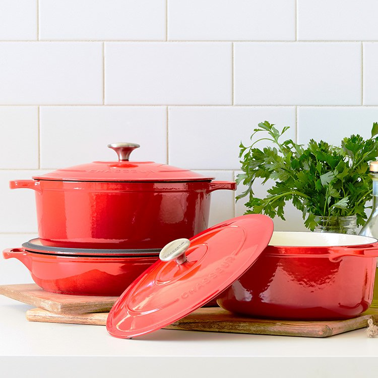 Chasseur enamelled cast iron French ovens and casseroles
