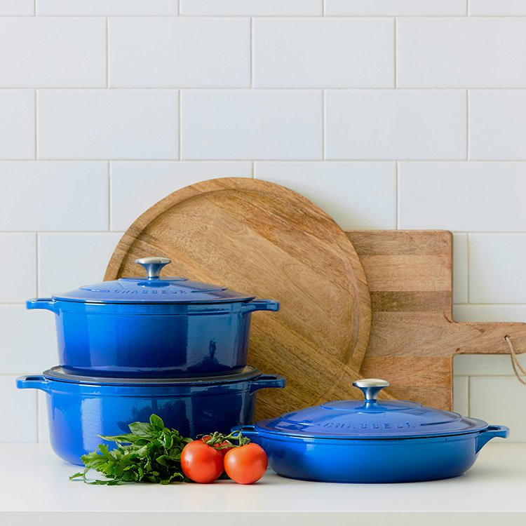 Chasseur Round French Oven 28cm - 6.3L Imperial Blue