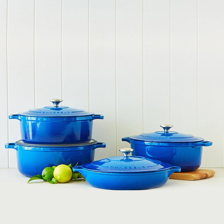 Chasseur Oval French Oven 27cm - 3.6L Imperial Blue