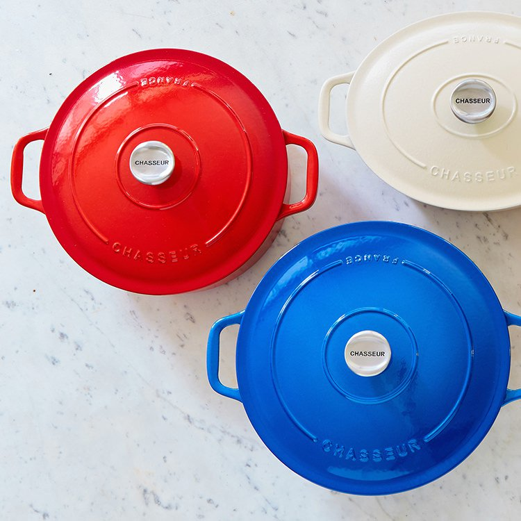 Chasseur Round French Oven 24cm - 3.8L Chilli Red