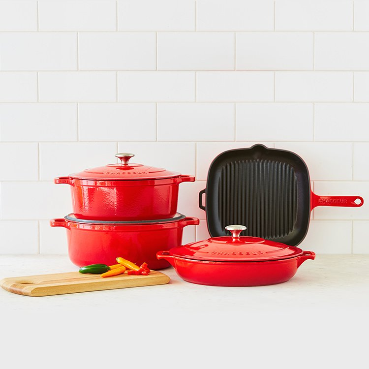Chasseur Square Grill 25cm Chilli Red image #5
