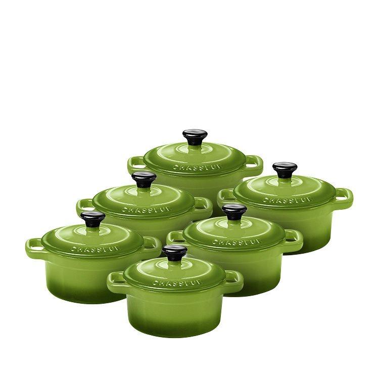 Chasseur La Cuisson Mini Cocotte Set of 6 Apple