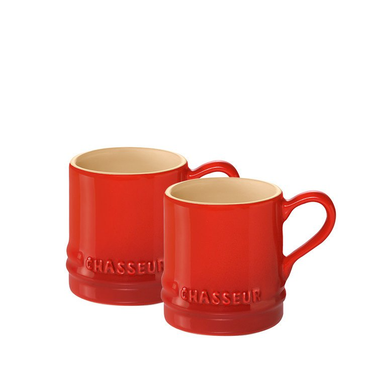 Chasseur La Cuisson Petit Espresso Cups Set of 2 Red