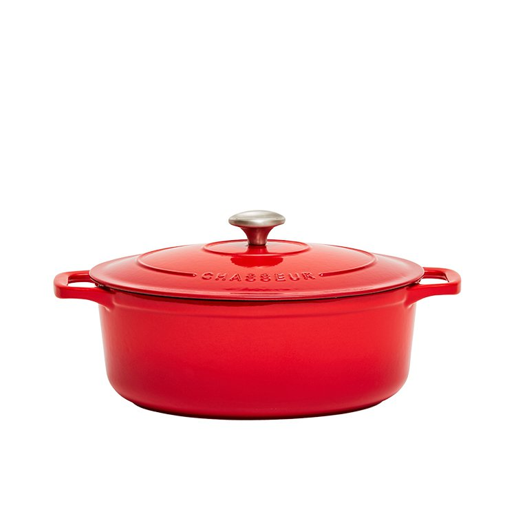 Chasseur Oval French Oven 27cm - 4L Chilli Red