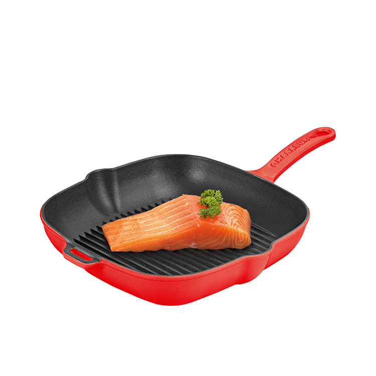 Chasseur Square Grill 25cm Chilli Red