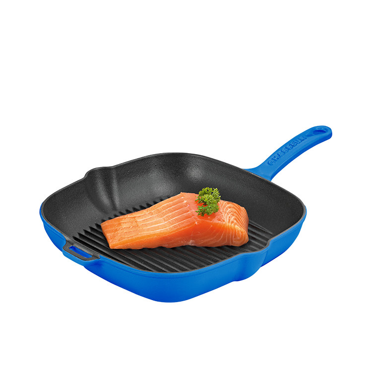 Chasseur Square Grill Pan 25cm Imperial Blue