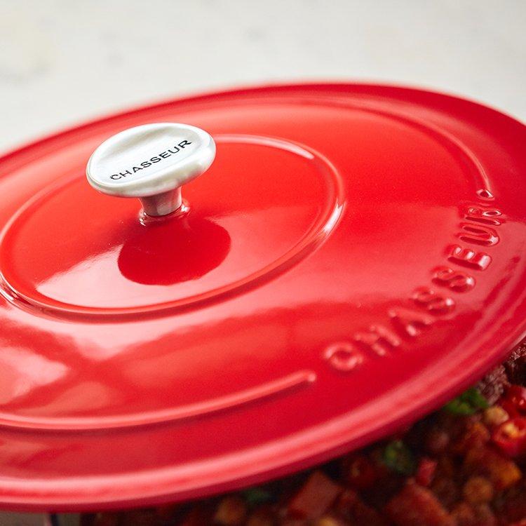 Chasseur Round Casserole 30cm - 2.5L Chilli Red