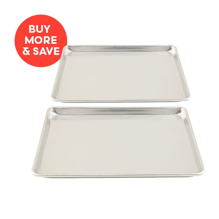 Chef Inox Baking Sheet Aluminium 330x450x25mm (2pcs)