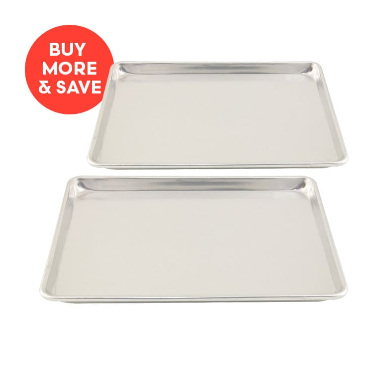 Chef Inox Baking Sheet Aluminium 450x650x25mm (2pcs)