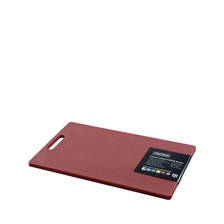 Chef Inox Cutting Board 230x380x12mm Red