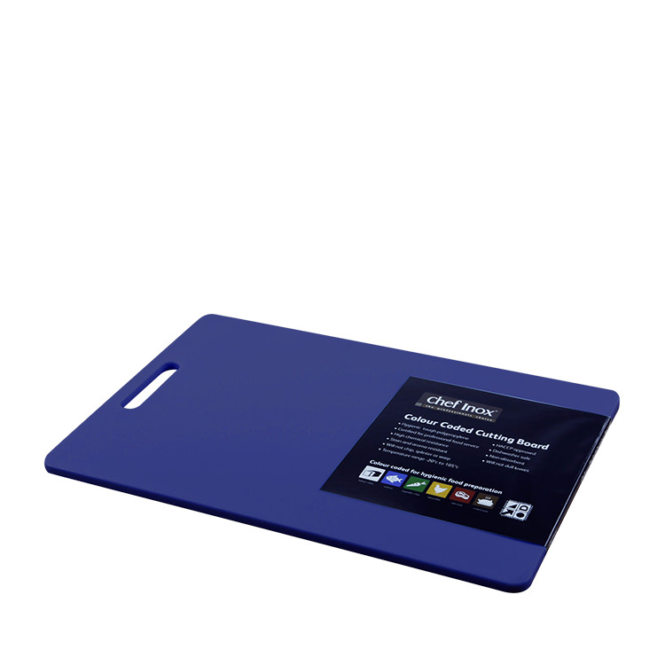 Chef Inox Cutting Board 300x450x12mm Blue