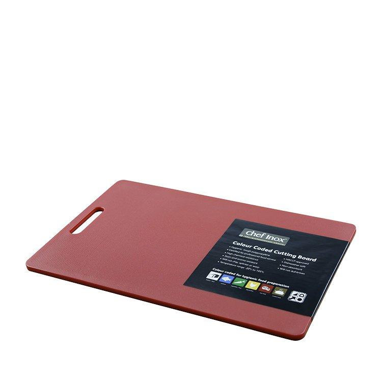 Chef Inox Cutting Board 300x450x12mm Red