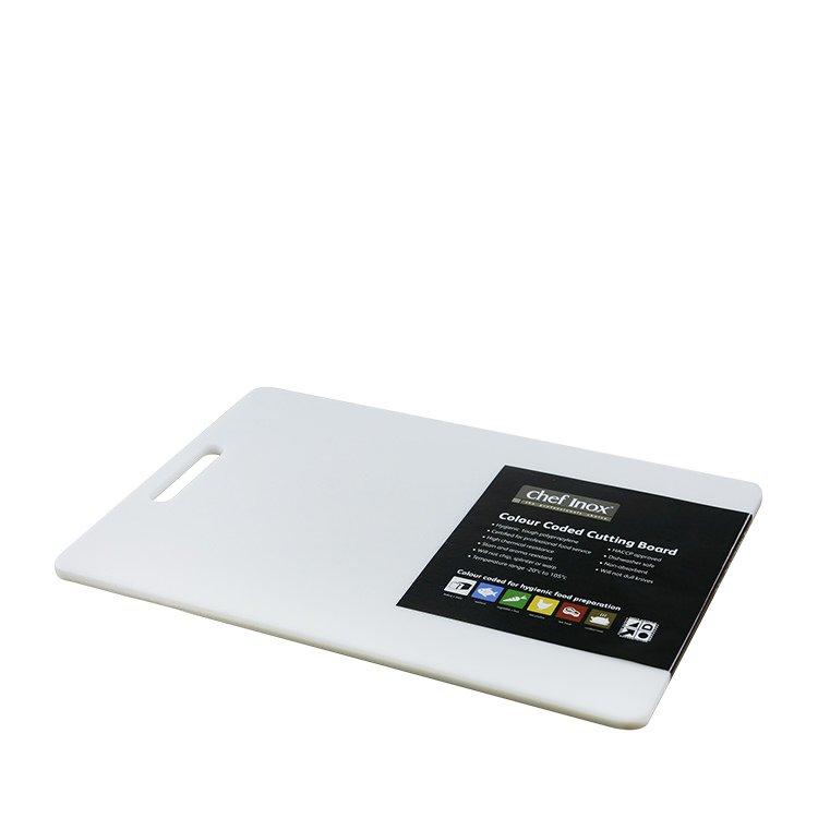 Chef Inox Cutting Board 300x450x12mm White