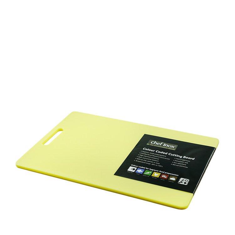 Chef Inox Cutting Board 300x450x12mm Yellow