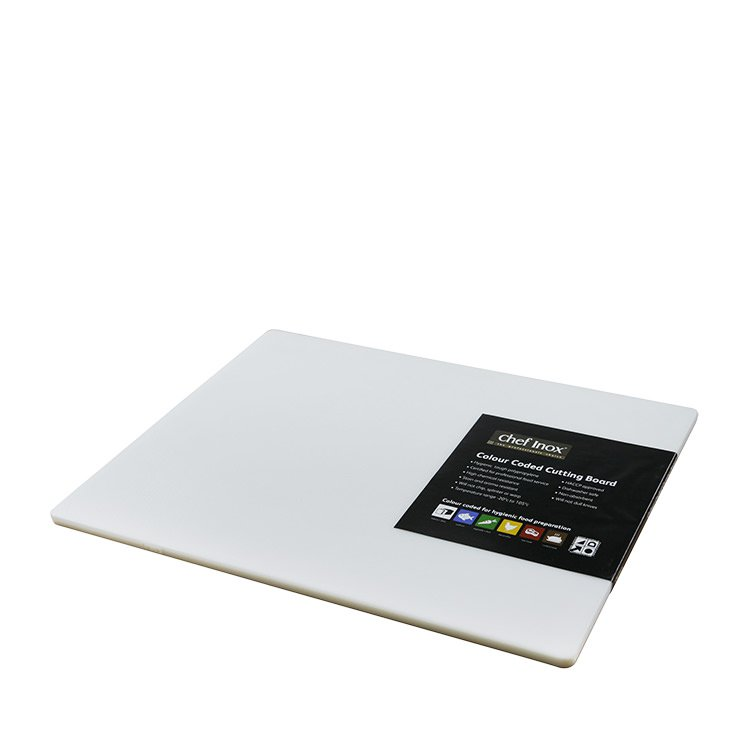 Chef Inox Cutting Board 380x510x12mm White