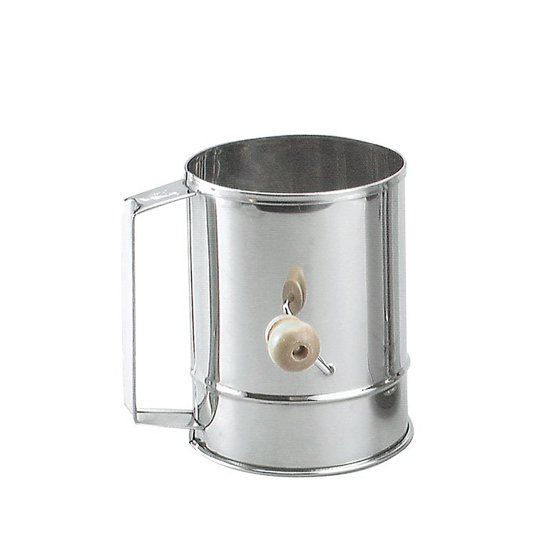 Chef Inox Stainless Steel Crank handle Flour Sifter 5 Cup