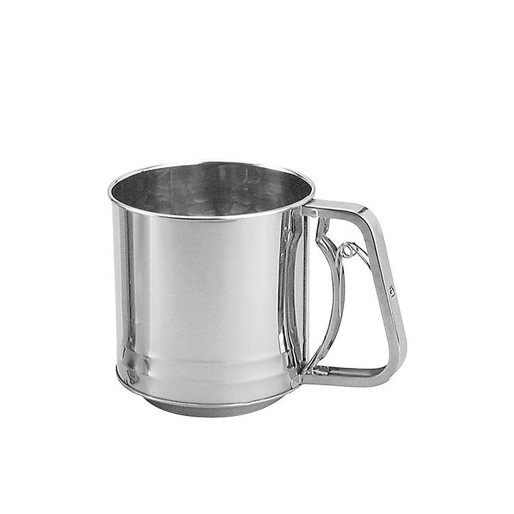 Chef Inox Stainless Steel Squeeze handle Flour Sifter 5 Cup