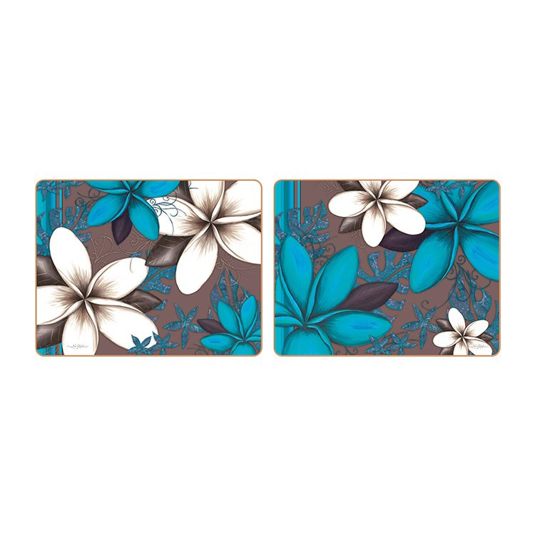 Cinnamon Aqua Frangipani Coasters Set of 6