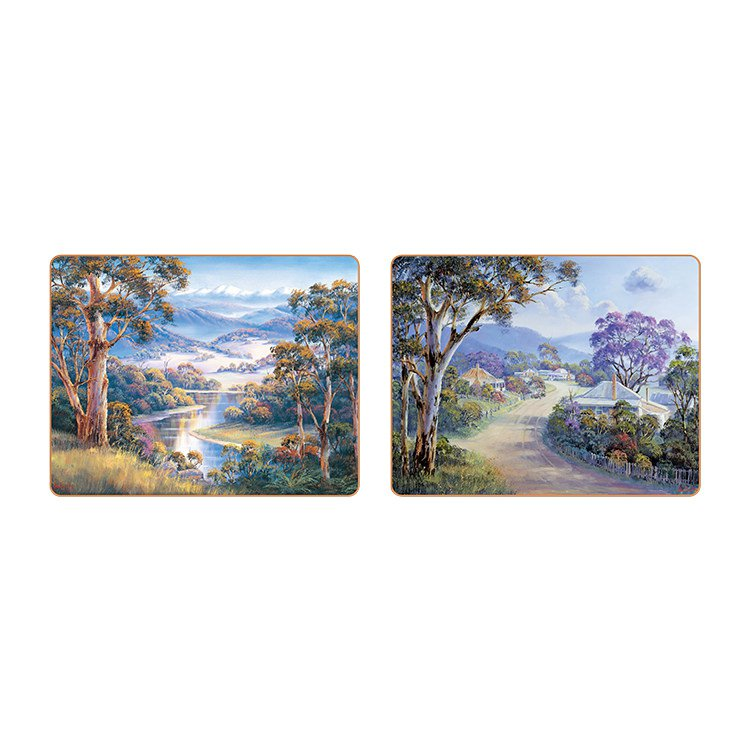 Cinnamon Bradley's Streams Placemats Set of 6 image #2
