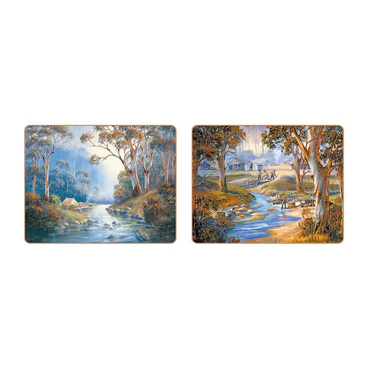 Cinnamon Bradley's Streams Placemats Set of 6 image #3