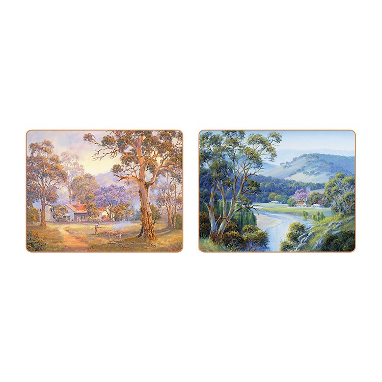 Cinnamon Bradley's Streams Placemats Set of 6 image #4