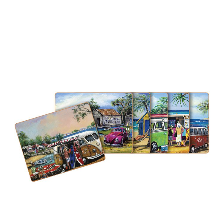 Cinnamon Kombi Coasters Set of 6