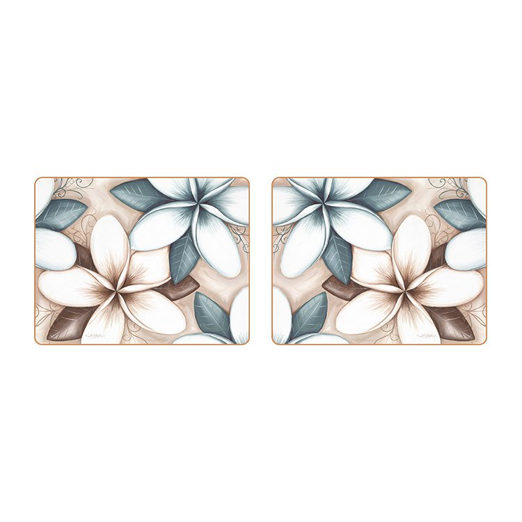 Cinnamon Ocean Frangipani Coasters Set of 6