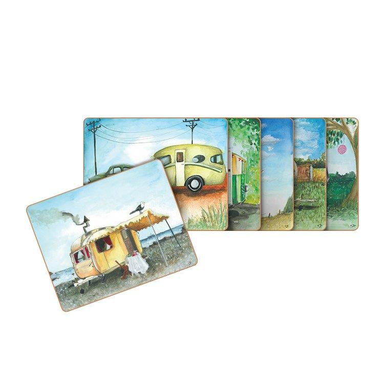 Cinnamon Vintage Caravan Coasters Set of 6