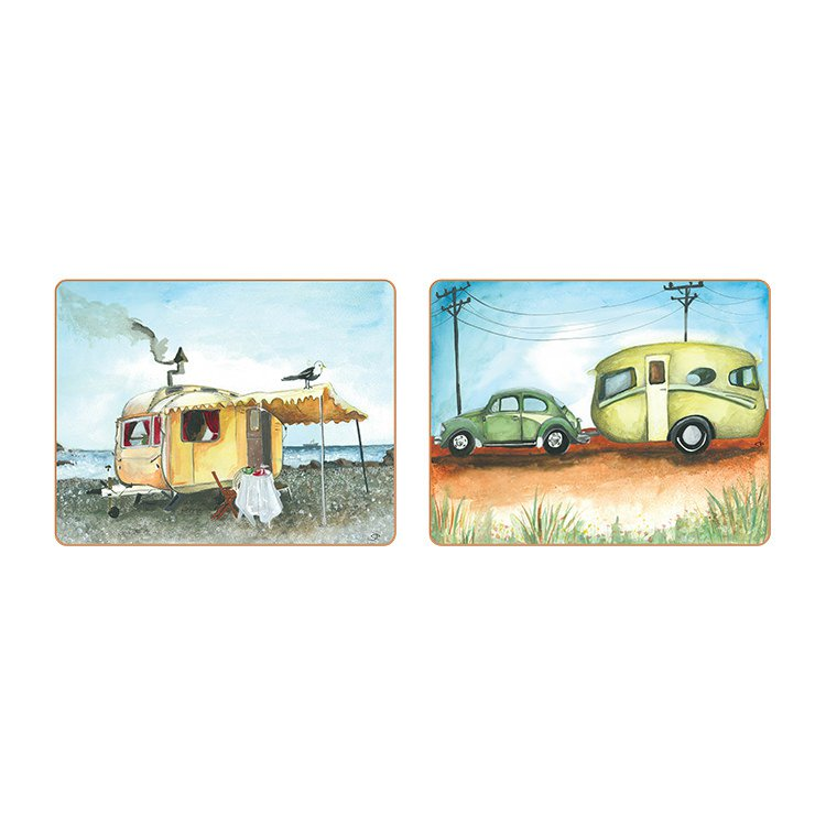 Cinnamon Vintage Caravan Coasters Set of 6