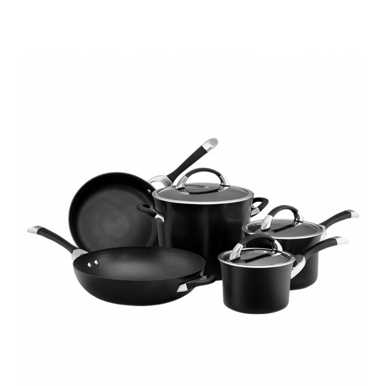 Circulon Symmetry 5pc Cookware Set Black