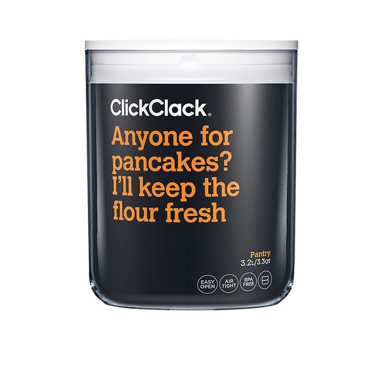 ClickClack Pantry Round Container 3.2L White
