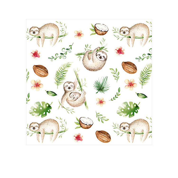 Coastal Classics 3ply Lunch Napkin Sleepy Sloth 20pk