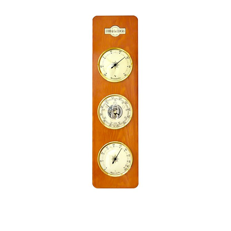 Cobb & Co Large 3 in 1 Barometer 15cm x 54cm Oak