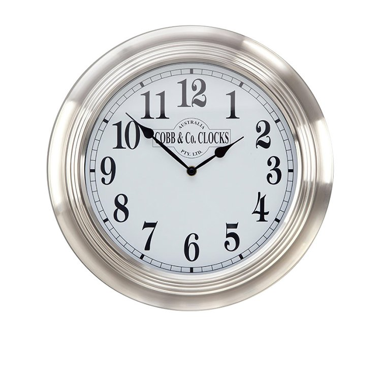 Cobb Co Stainless Steel Wall Clock 38cm On Sale Now