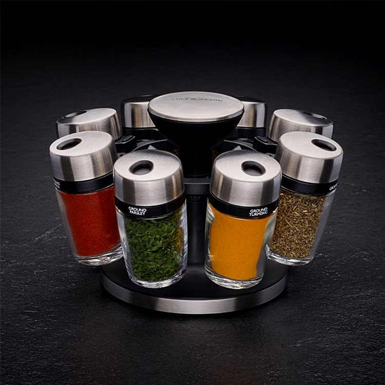 Cole & Mason 8 Jar Spice Rack Carousel
