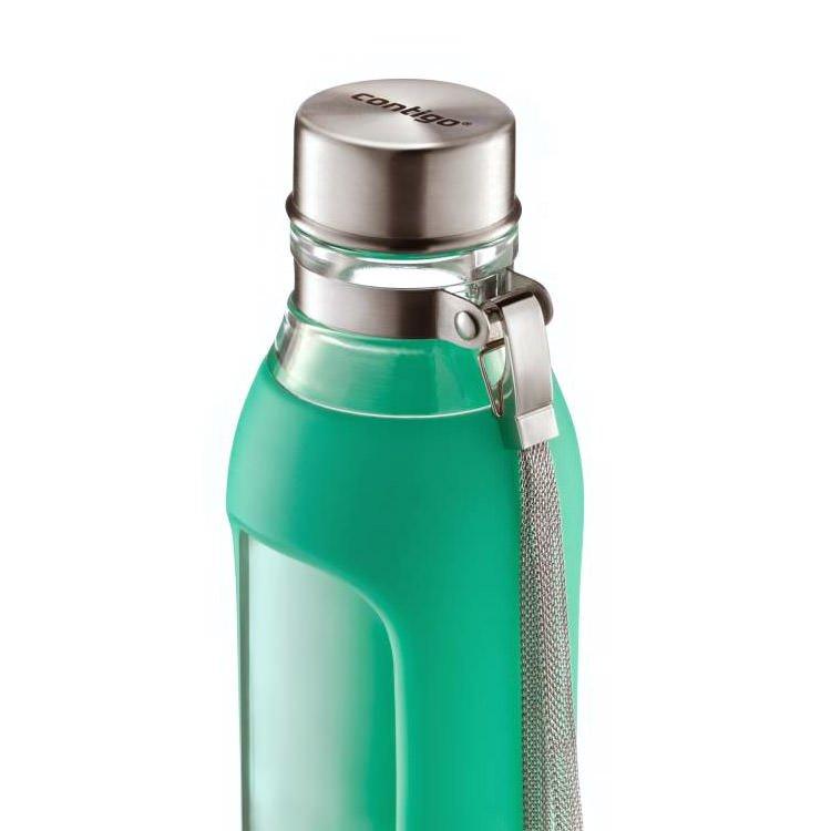 Contigo Purity Glass Water Bottle 590ml Jade