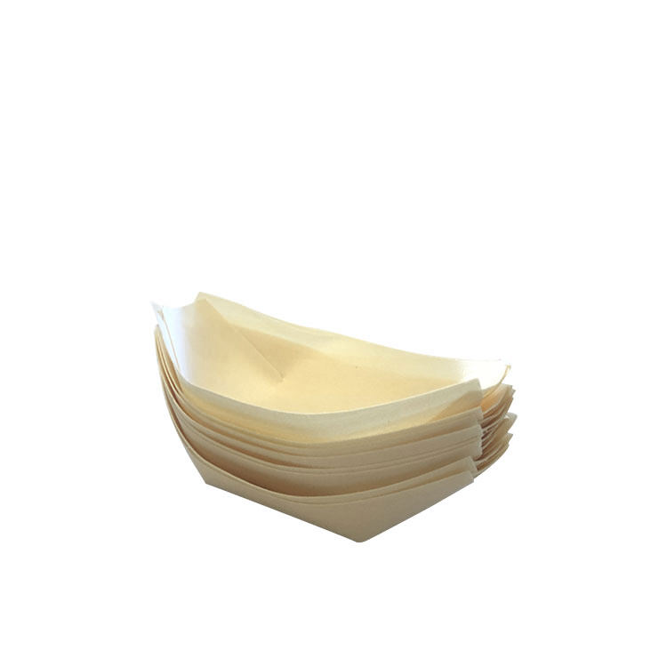 Cook's Choice Bamboo Cocktail Boat 14x8cm 8pk