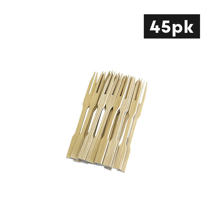 Cook's Choice Bamboo Cocktail Forks 9cm 45pk