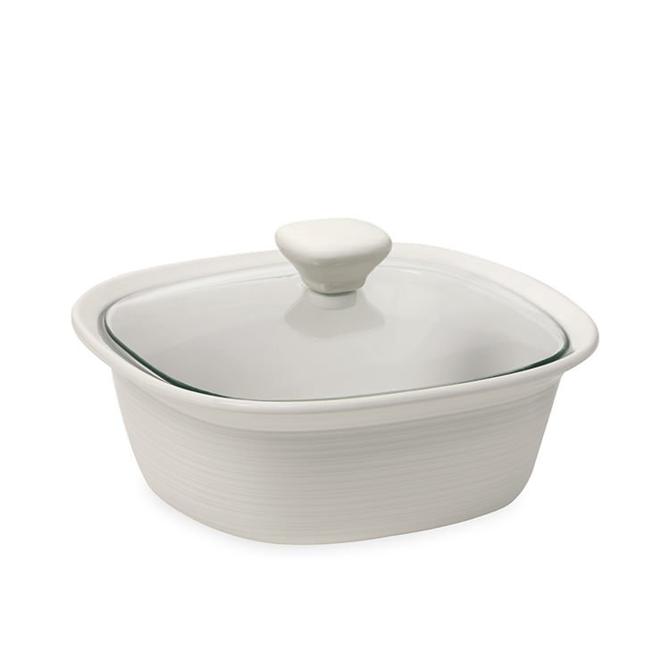 Corningware Etch White Covered Casserole 1.4L