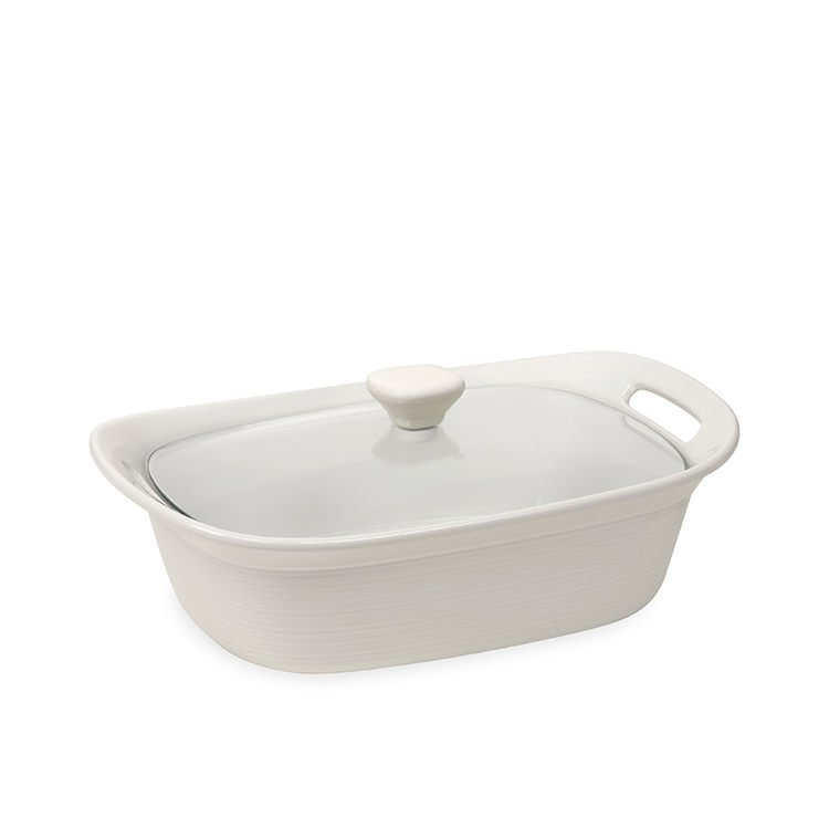 Corningware Etch White Covered Casserole 2.35L