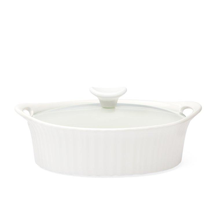 Corningware French White Oval Casserole 2.3L