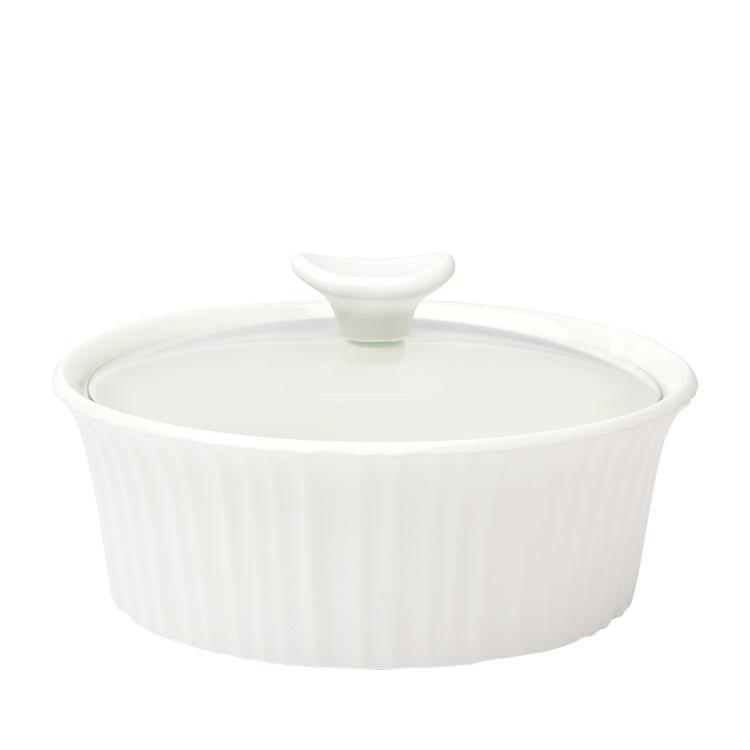 Corningware French White Round Casserole 2.3L