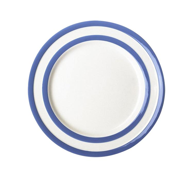 Cornish Blue Banded Dinner Plate 25cm