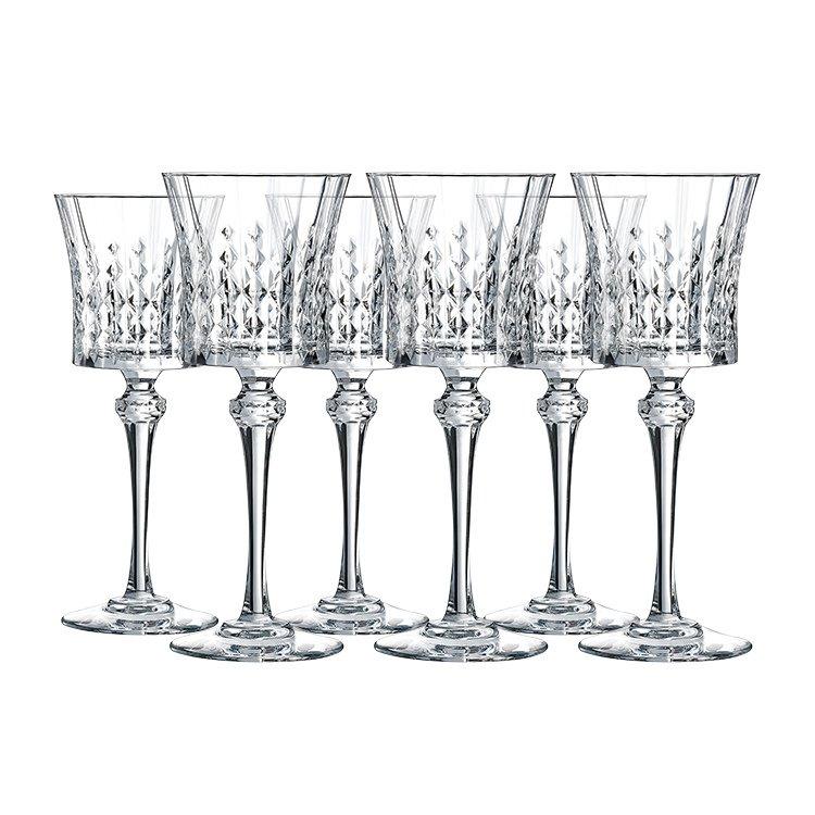 Cristal Darques Lady Diamond.Cristal D Arques Lady Diamond Wine Glass 190ml Set Of 6