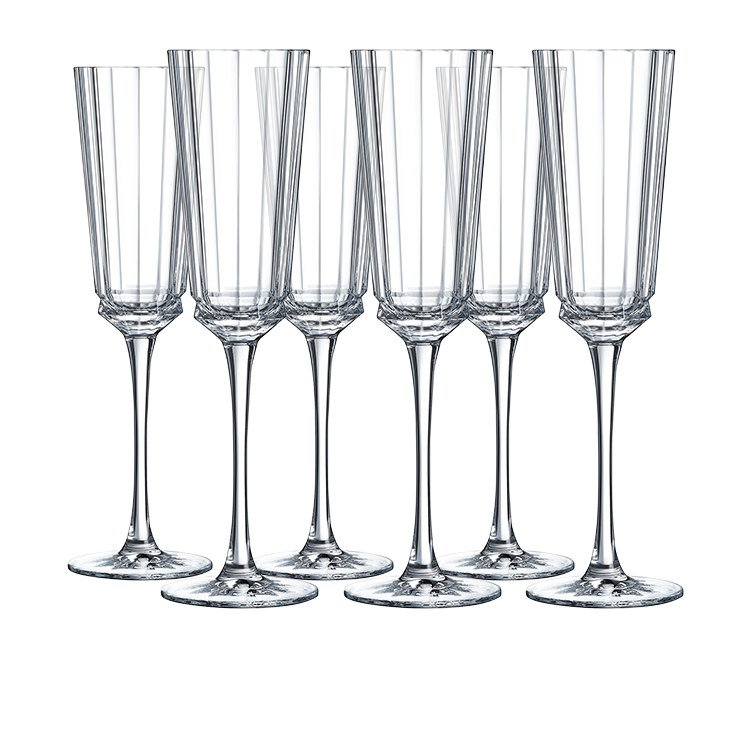 cristal d 39 arques macassar champagne flute 170ml set of 6 fast shipping. Black Bedroom Furniture Sets. Home Design Ideas