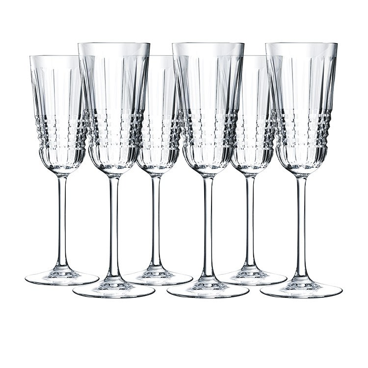 cristal d 39 arques rendez vous champagne flute 170ml set of 6 fast shipping. Black Bedroom Furniture Sets. Home Design Ideas