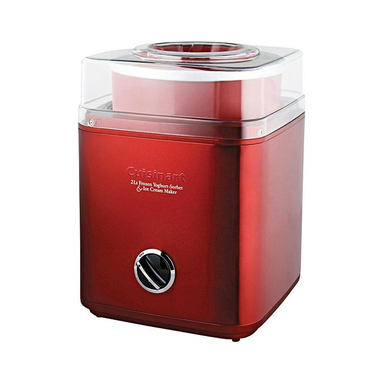 Cuisinart Ice Cream & Frozen Yoghurt Maker 2L Metallic Red